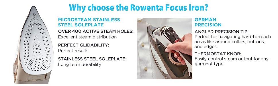 Rowenta, Focus, Iron, Steam Iron, Germany Iron, Clothing Iron, Garment Iron