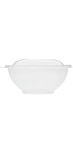 Karat FP-BR24-Combo 24 oz Round PET Salad Bowls with Lids