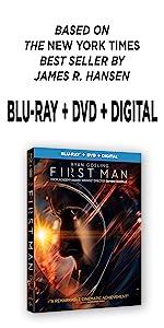 first man, neil armstrong, dvd, 4k, bluray, ryan gosling, movie, astronaut, space, apollo 11, novel