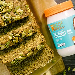 organic coconut oil pumpkin bread recipe fall recipe betterbody foods