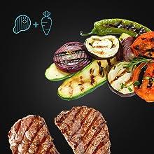 Raclette avec plateau de cuisson pour viande et/ou légumes de Cecotec