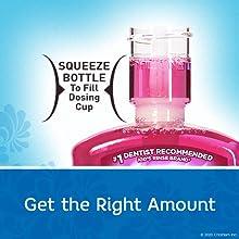 Safe mouthwash dosing for kids.