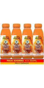 champú, papaya, reparadora, pack