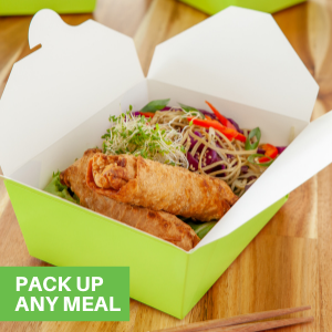 These paper take out food containers come in a variety of shapes and sizes to contain your foods.
