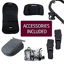 accessories, free,included, no charge,travel system adapters,cup holder,rain,raincover,insert