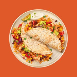 Chicken Fajitas with Spicy Mexican Rice
