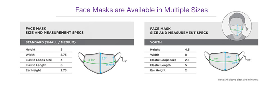 Face Masks Are Available in Multiple Sizes