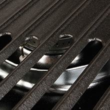cast iron, removable, easy clean, interchangeable, swaptop, griddles, stove grates