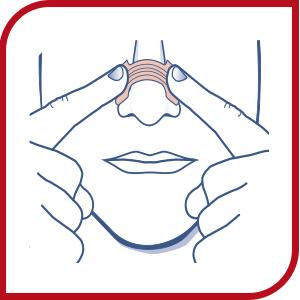 Place nasal strip