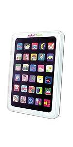 tablet, lights, sounds, infant, toddler, pretend, play