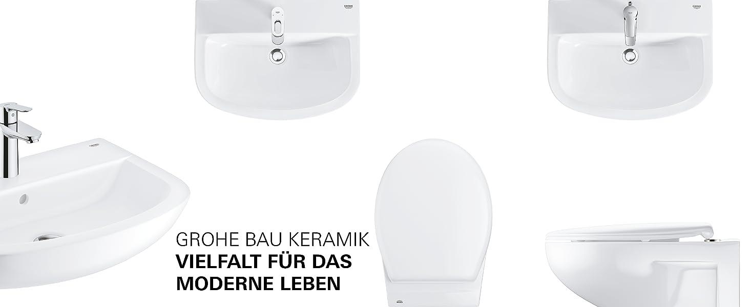 60cm Waschtisch Waschtischarmatur in S-Size Grohe Keramik Bundle