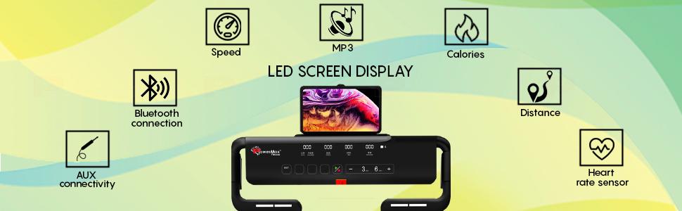 PowerMax Fitness UrbanTrek TD-M5 Installation Free Treadmill with LED Screen