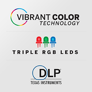 Vibrant Color Technology, 30,000 Hour LEDs, DLP