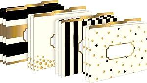 Gold File Folder, Gold Office Supplies, Fashion File Folder