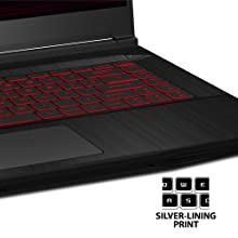 GAMING LAPTOP STEELSERIES RGB KEYBOARD MECHANICAL LINEAR NON STICK CLICK N-KEY ROLLOVER