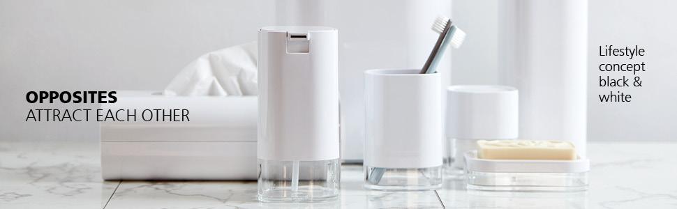 WENKO bathroom accessories - timeless design in brilliant white and elegant black