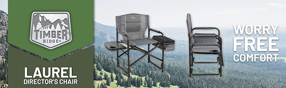 Amazon Com Timber Ridge Laurel Director S Chair With