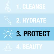 Daily sun and skin care routine: protect skin from uva and uvb rays with ultra sheer sunscreen