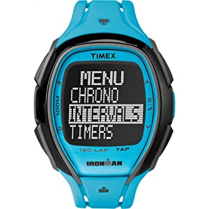 Timex Unisex TW5M006009J Ironman Sleek 150 Tapscreen Neon Blue Full-Size Resin Strap Watch