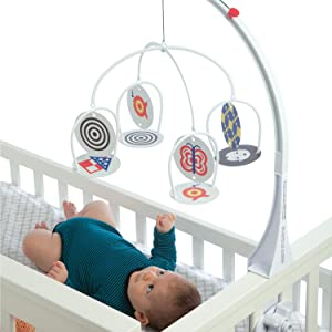 infant development toy;developmental toys for infants;black and white development toy;mobile arm