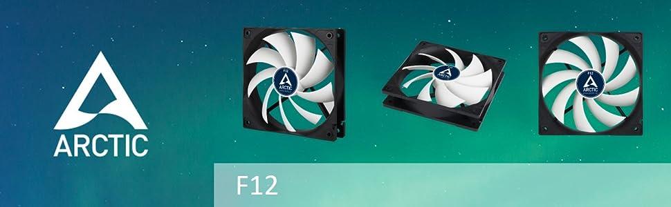 ARCTIC F12 120 mm ventilador estándar extremamente silencioso 2 modos de instalación