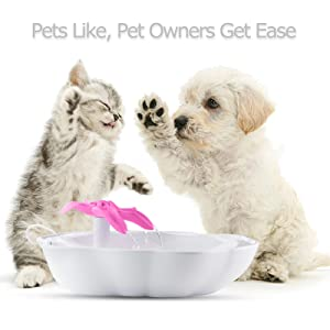Fresh Water Drinking Fountain For Cats And Small Dogs Bowl Elegant And Sturdy Package Cat Supplies Dishes, Feeders & Fountains