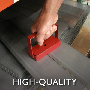 powerful magnet picking up sheet metal for industrial strength moving