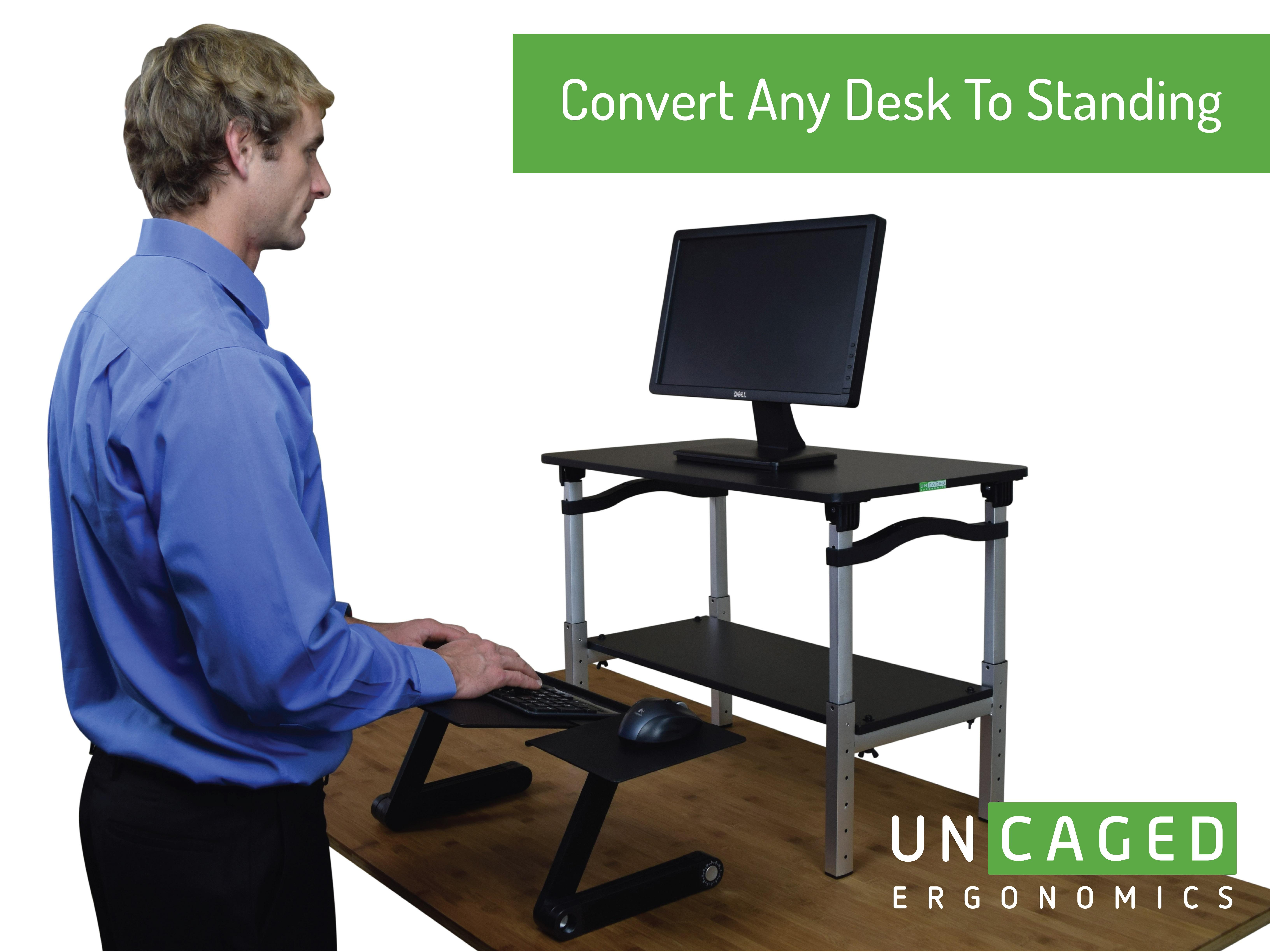 Lift Standing Desk Conversion Kit Tall Portable
