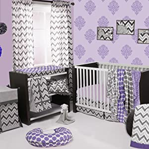 Bacati Ikat Grey/Lilac Collection