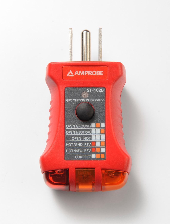 Electrical Socket Tester : Amprobe st b socket tester with gfci voltage testers