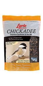 lyric, bird seed, bird food, lyric bird seed, wild bird seed, chickadee mix, small bird food mix