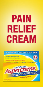 Topical pain relief cream.