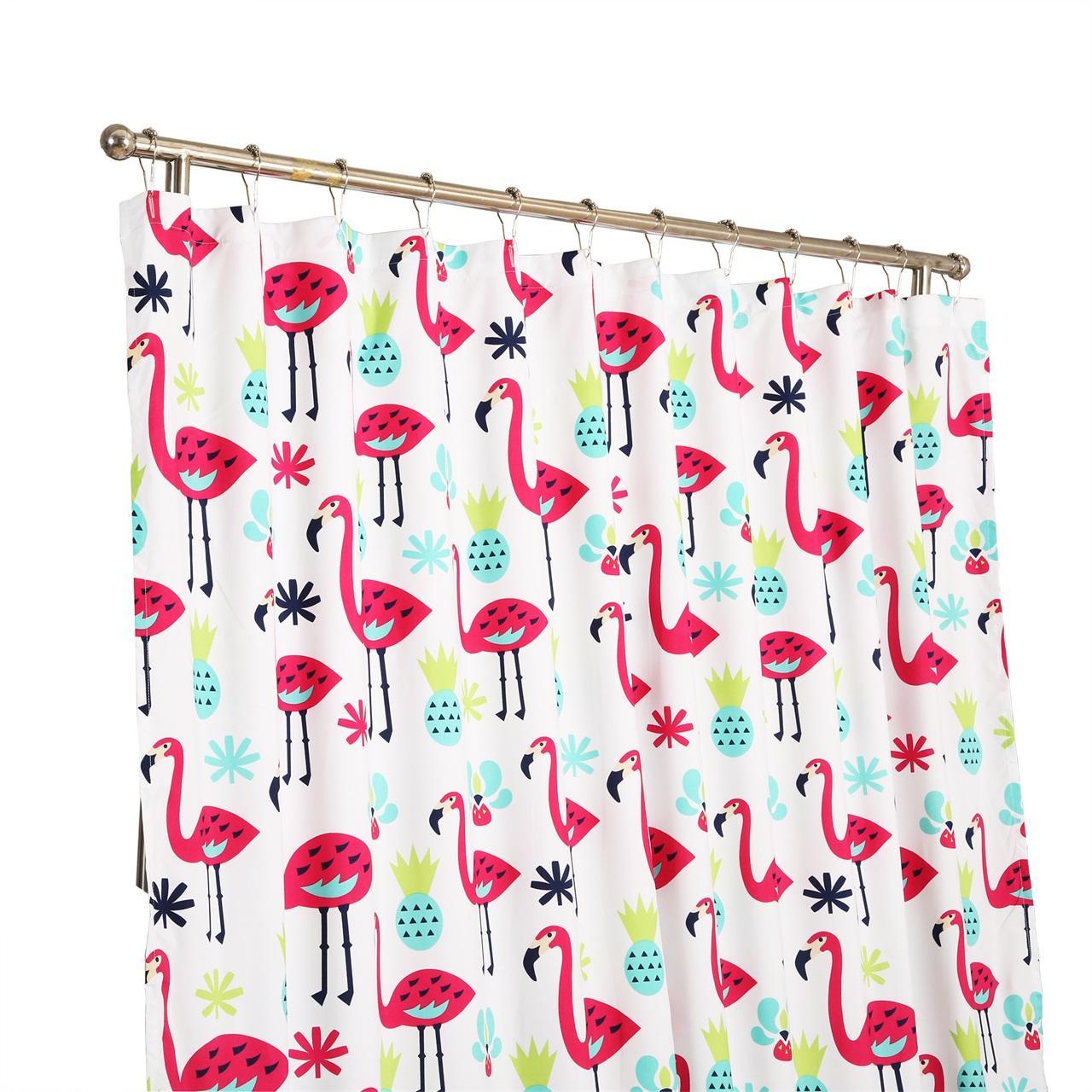 Sea Kitchen Curtains Amazon: Amazon.com: Affluence Home Fashions Fancy Flamingo Shower