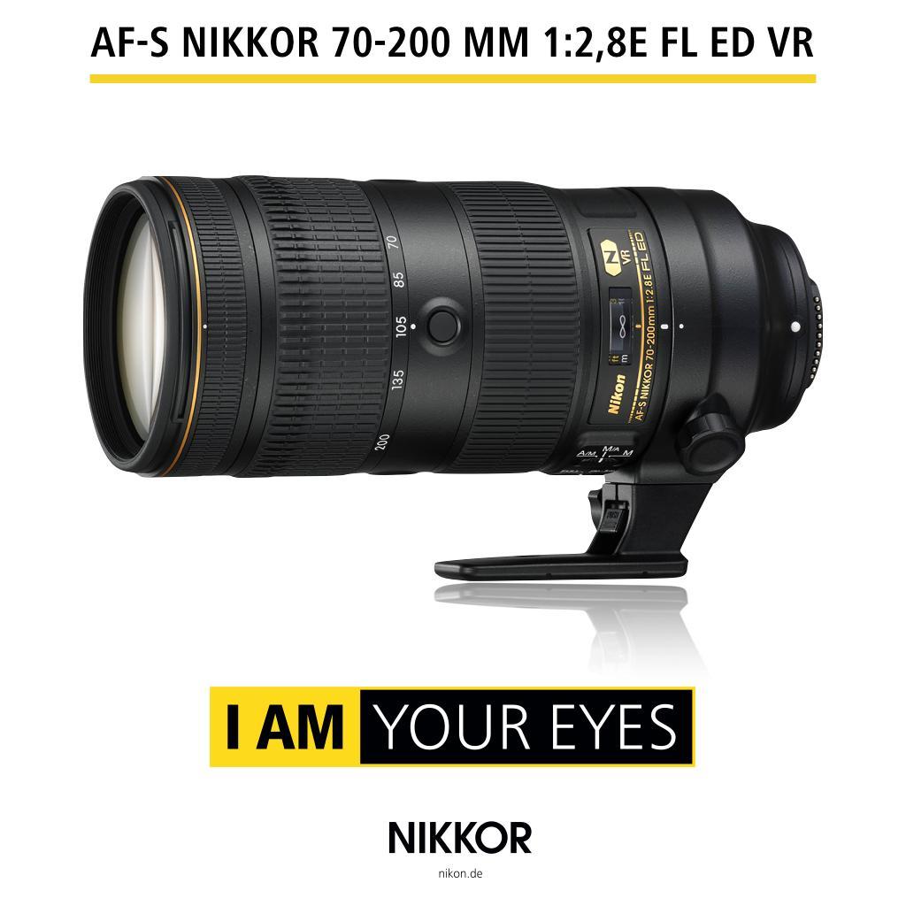 Nikon AF-S Nikkor 70-200 mm, 1:2.8E FL ED VR schwarz