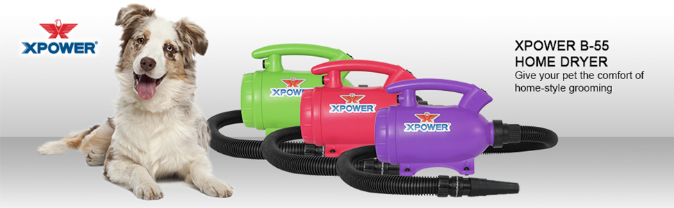 xpower b-55 professional home pet dryers, pet blower, dog dryer, pet drying tools