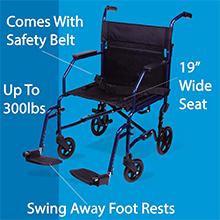 Amazon.com: Carex Silla de ruedas de transporte – asiento de ...