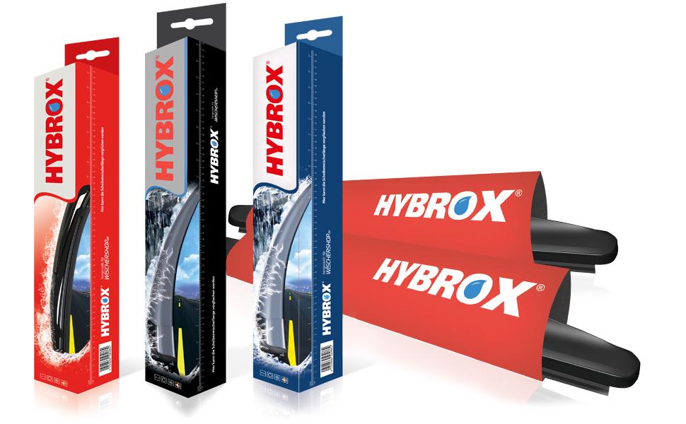 Hybrox Ultra X 142 Front Scheibenwischer Wischblattsatz Auto