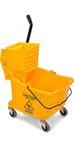 mop bucket, mopping bucket, commercial mop bucket, string mop bucket, janitor mop bucket
