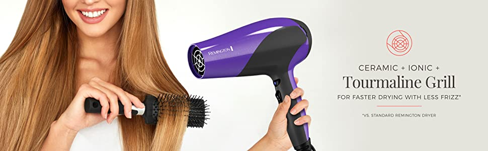 ceramic ionic tourmaline grill fast drying hair blow dryer