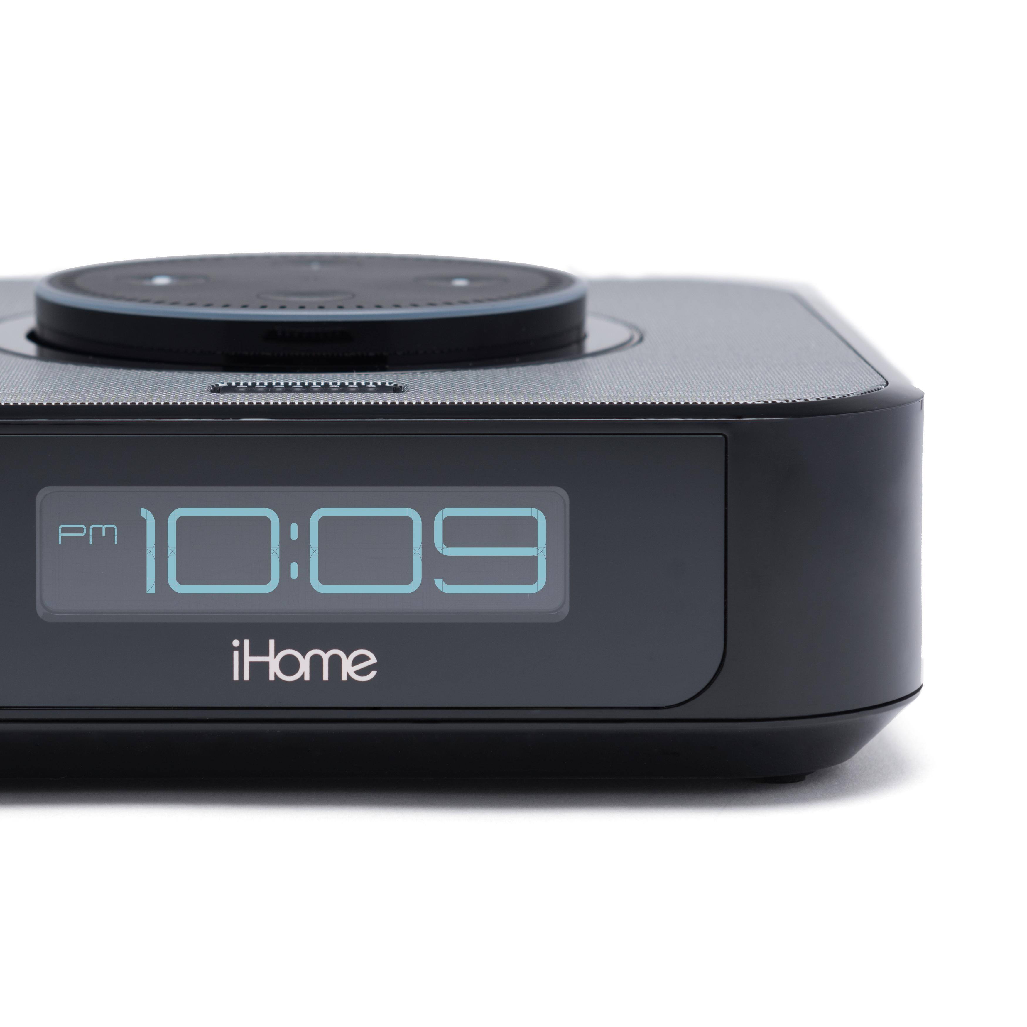 Amazon.com: IHome IAVS1 Bedside Stereo Speaker System For Amazon Echo Dot [Dot Sold Separately