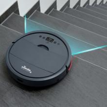 Vileda VR 201 PetPro - Robot aspirador, depósito de suciedad XL, cepillo especial para animales, doble filtro para alérgenos y polen, base de carga, ...