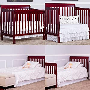 aden, dream on me, nursery furniture, baby furniture, DOM Family, mini-crib, 4-in-1