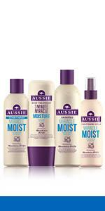 aussie miracle moist for dry damaged hair shampoo conditioner