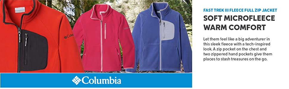 Columbia Youth Fast Trek III Fleece Full Zip Jacket