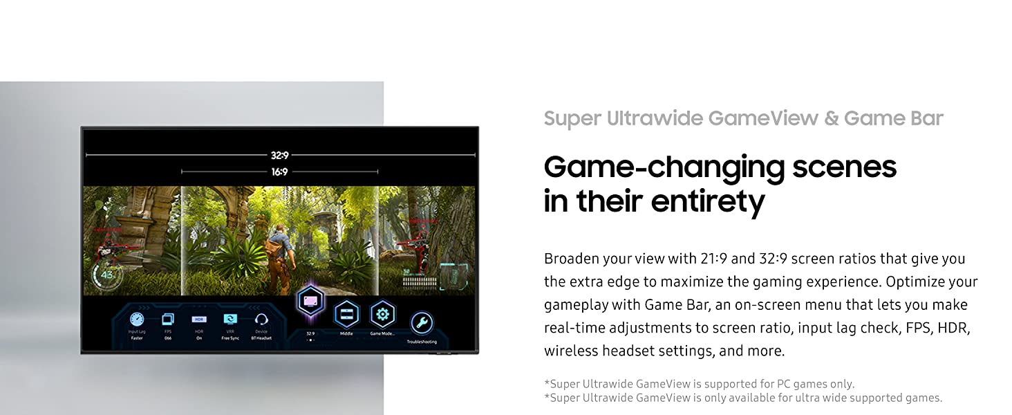Super Ultrawide GameView & Game Bar