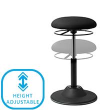 Height Adjustable Bar Stool Office Chair under cushion support tilt back chair sit stool