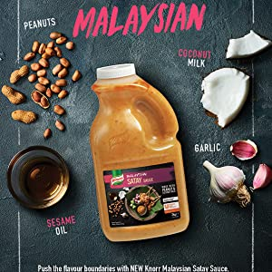 satay, sauce, knorr, malaysian, asian