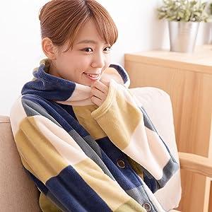 mofuaの着る毛布ならではのあったかさと肌触りのよさです。