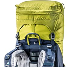 Deckel; Deckeltasche; Höhenverstellbar; Deuter;Rucksack; Stauraumerweiterung