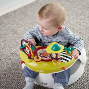 Mamas Papas Baby Snug Seat And Activity Tray With Adjustable Features Supportive Stable And Easy Clean Design Soft Grey